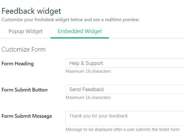 Fresk Desk feedback Widget